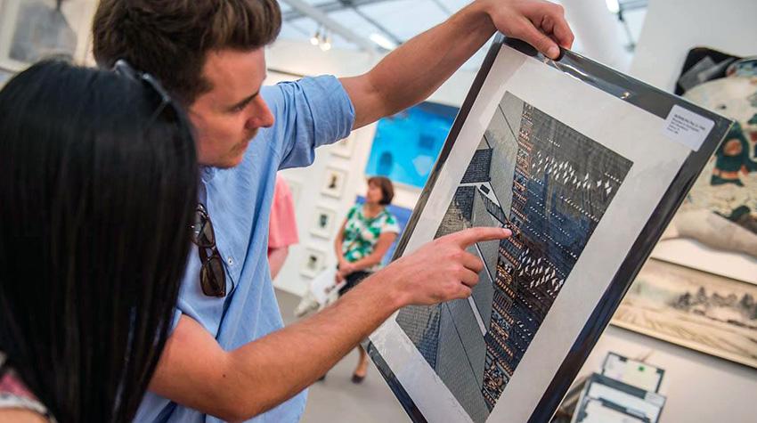 Affordable Art Fair, London Hampstead 2017 in London, England