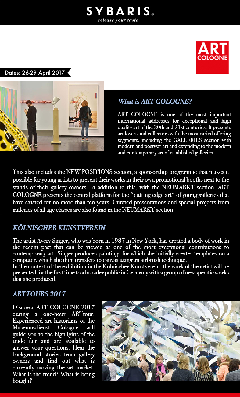 Art Cologne in Sybaris Collection