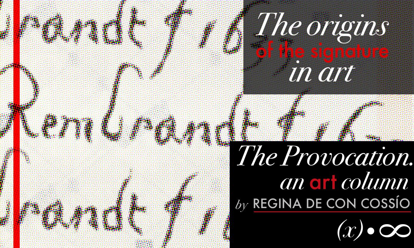 The Origins of the Artist Signature