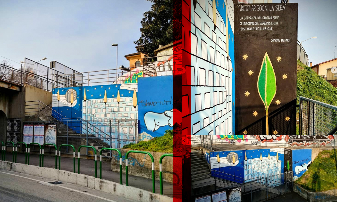 Graffitis in different Italy streets by Simone Berno