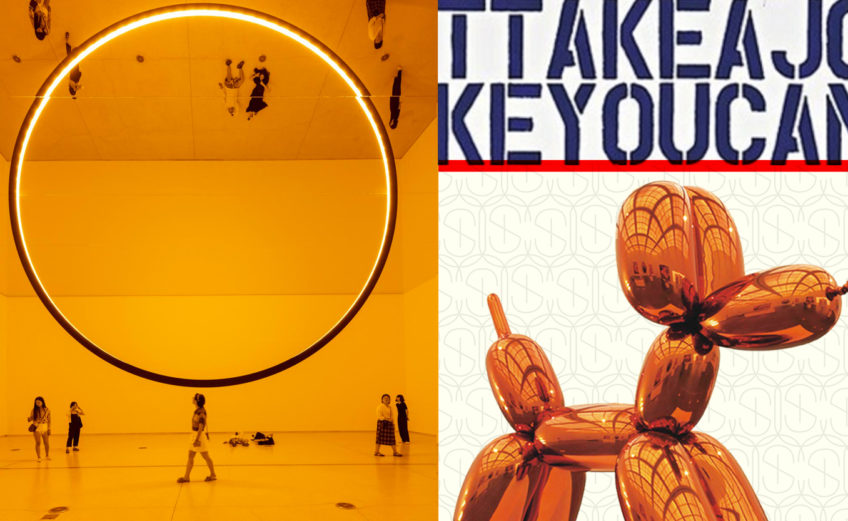 Orange Pieces by Olafur Eliasson and Jeff Koons
