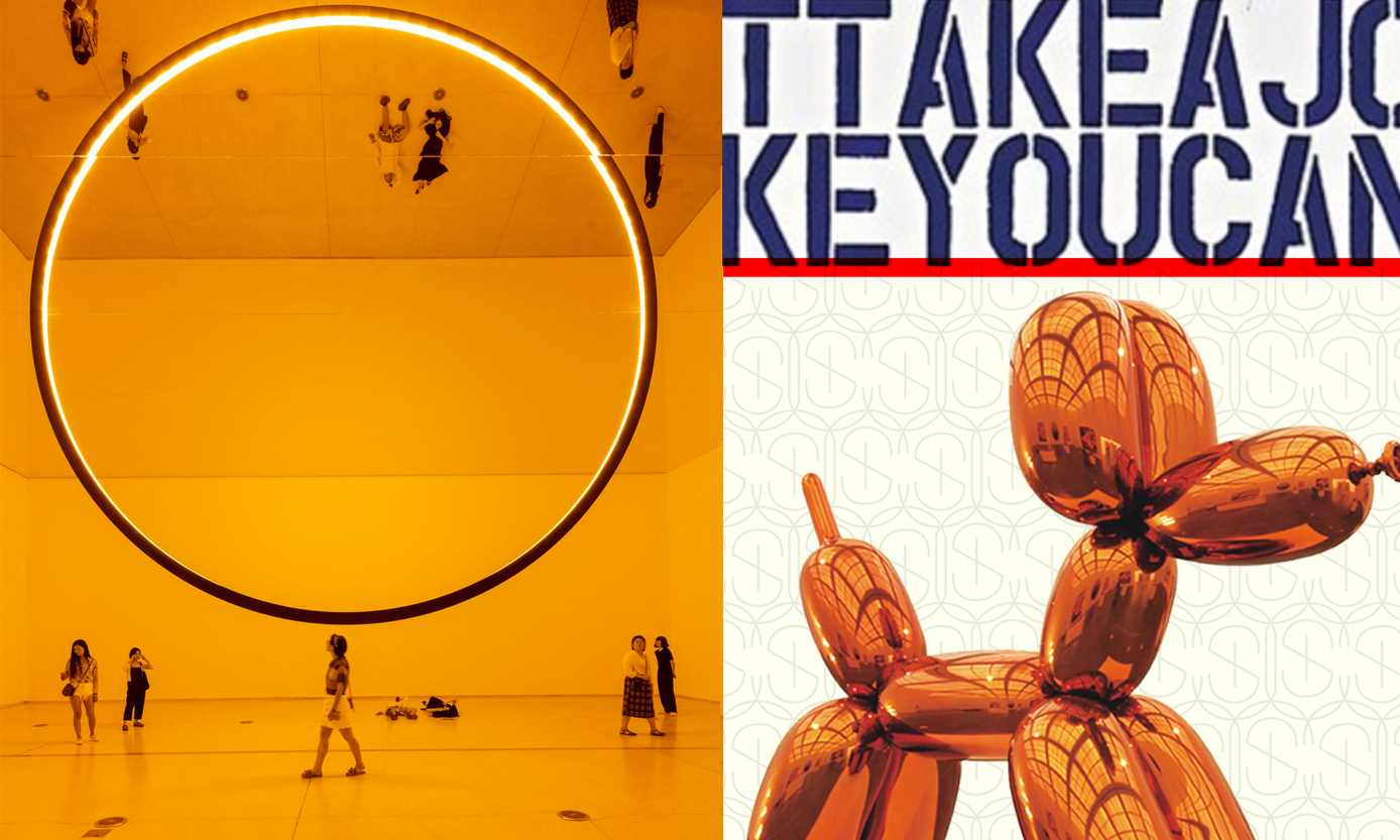 Orange Pieces by Olafur Eliasson and Jeff Koons